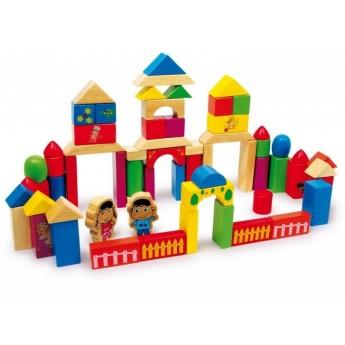 Kostky a stavebnice - Dřevěné kostky Nico 100 ks VELKÉ