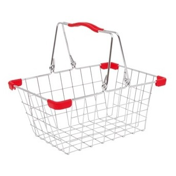 Pro holky - Kovový košík na nákupy a na kolo