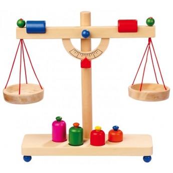 Pro holky - Dřevěná páková váha