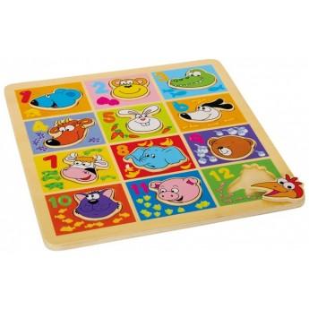 Puzzle - Puzzle Zvířata s čísly