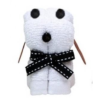 Pro holky - Mini ručník - Pes bílý