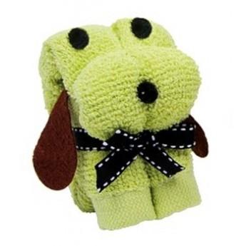 Mini ručník - Pes zelený