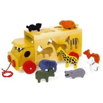 Motorické a didaktické hračky - Auto se zvířátky