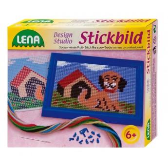 Výtvarné a kreativní hračky - Vyšívání obrázek pes