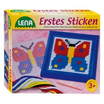 Výtvarné a kreativní hračky - Vyšívání obrázek motýl