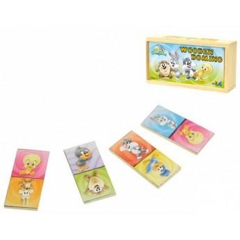 Dřevěné domino Looney Tunes Baby, 28 ks