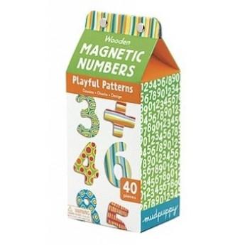 Dřevěné magnetky 40 ks - Číslice