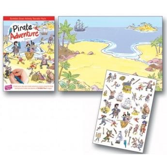 Výtvarné a kreativní hračky - Pracovní sešit SCRIBBLE DOWN, Piráti