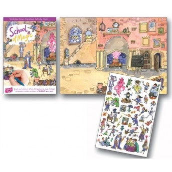 Výtvarné a kreativní hračky - Pracovní sešit SCRIBBLE DOWN, Škola magie