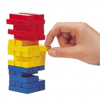 Motorické a didaktické hračky - Vratká věž Jenga barevná