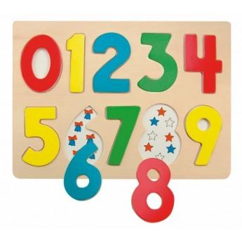 Puzzle - Puzzle na desce Číslice s beruškami