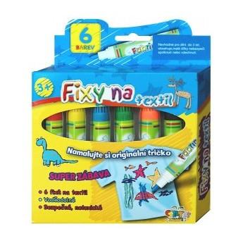 Výtvarné a kreativní hračky - Fixy na textil voděodolné 6 ks