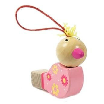 Dětské hudební nástroje - Píšťalka ptáček - růžový