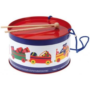 Dětské hudební nástroje - Plechový bubínek, dětský vzor