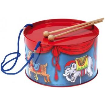 Dětské hudební nástroje - Plechový bubínek, motiv kolotoč