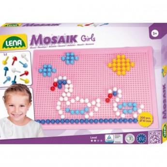 Kostky a stavebnice - Mozaika pro holky 200 ks, klobouček 1 cm