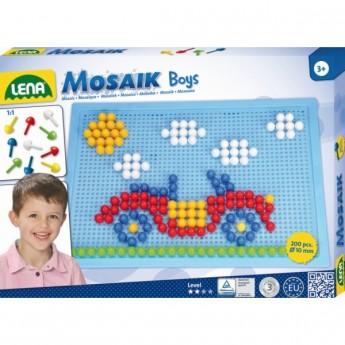 Kostky a stavebnice - Mozaika pro kluky 200 ks, klobouček 1 cm