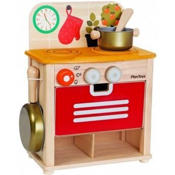 Pro holky - Dřevěná kuchyňka s příslušenstvím