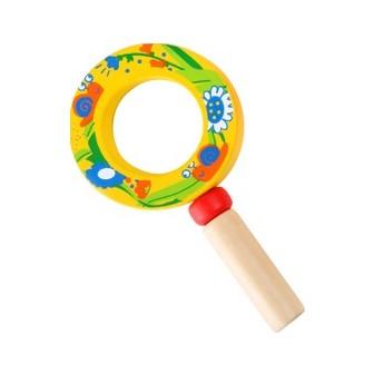 Dětská dřevěná lupa - žlutá