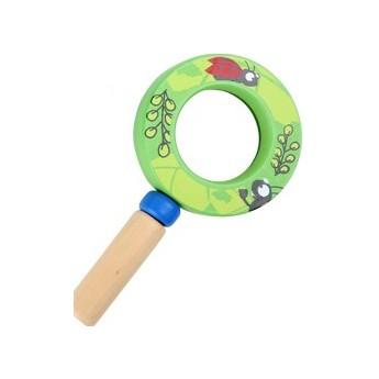 Pro holky - Dětská dřevěná lupa - zelená