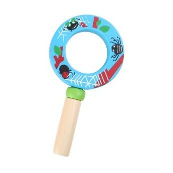 Pro holky - Dětská dřevěná lupa - modrá