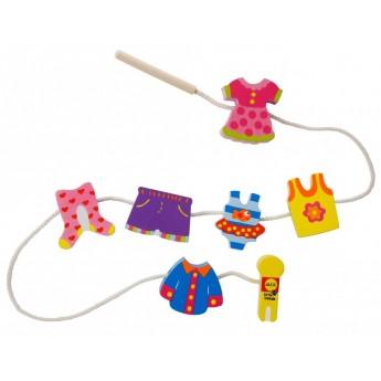 Motorické a didaktické hračky - Navlékací korálky Móda
