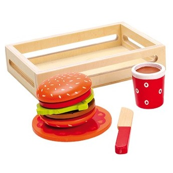 Pro holky - Krájení potravin - Hamburger