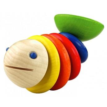 Pro nejmenší - Dřevěné chrastítko Moby