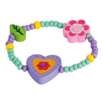 Pro holky - Náramek - fialové srdíčko
