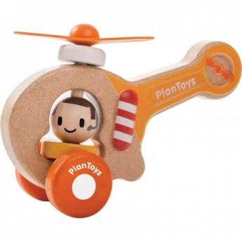 Oranžová helikoptéra