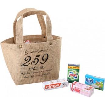 Pro holky - Nákupní jutová taška s doplňky
