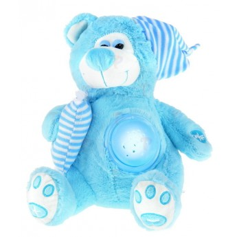 Pro nejmenší - Medvídek s projekcí, modrý