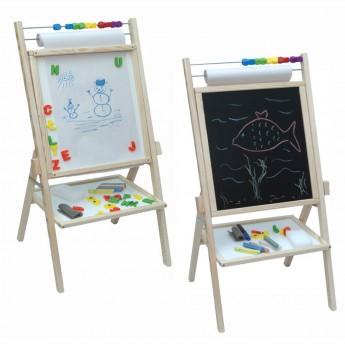 Školní potřeby - Oboustranná tabule magnetická s počítadlem a rolí papíru