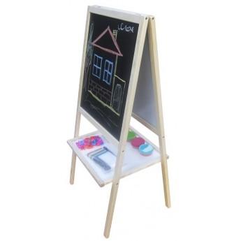 Školní potřeby - Dětská oboustranná tabule magnetická, s příslušenstvím