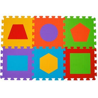 Pro nejmenší - Pěnové puzzle 6 ks 30 x 30 cm Tvary