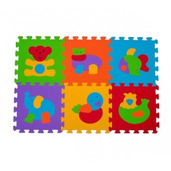 Pro nejmenší - Pěnové puzzle 6 ks 30 x 30 cm Zvířatka