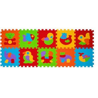 Pro nejmenší - Pěnové puzzle 10 ks 30 x 30 cm Zvířata