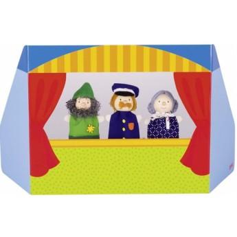 Divadla, loutky, maňásci - Maňáskové divadlo babička, lupič a policista