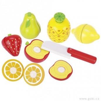 Pro holky - Ovoce na suchý zip k řezání – dětská kuchyňka, 13 dílů