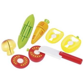 Pro holky - Zelenina na suchý zip k řezání – dětská kuchyňka, 12 dílů