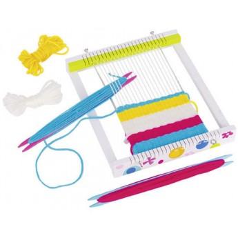 Výtvarné a kreativní hračky - Dřevěný tkalcovský stav Susibelle