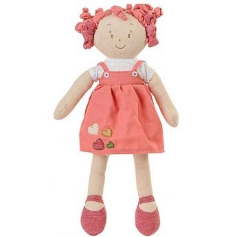 Pro holky - Látková panenka Lily růžové šatičky