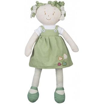 Pro holky - Látková panenka Lily zelené šatičky