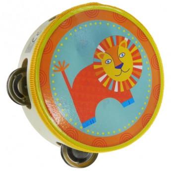 Dětské hudební nástroje - Dřevěná tamburína Lev