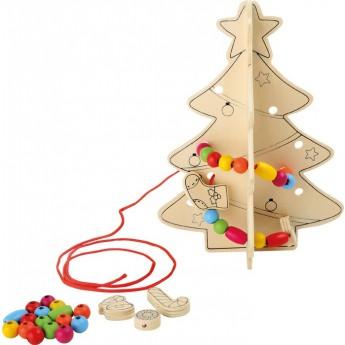 Výtvarné a kreativní hračky - Vánoční stromek k ozdobení a vymalování