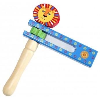 Dětské hudební nástroje - Dřevěná řehtačka Lev