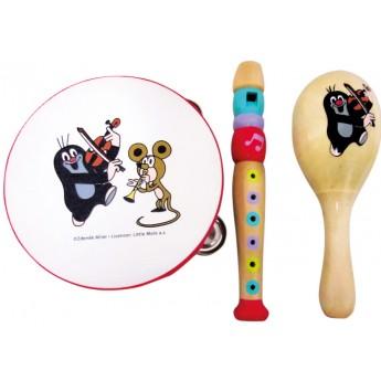Dětské hudební nástroje - Hudební set Krtek