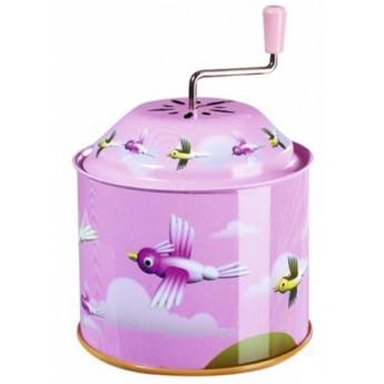 Dětské hudební nástroje - Hrající skříňka – Ptáčci růžová