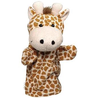 Divadla, loutky, maňásci - Maňásek na ruku plyš – žirafa