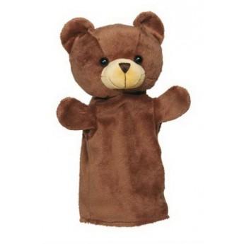 Divadla, loutky, maňásci - Maňásek na ruku plyš – medvídek